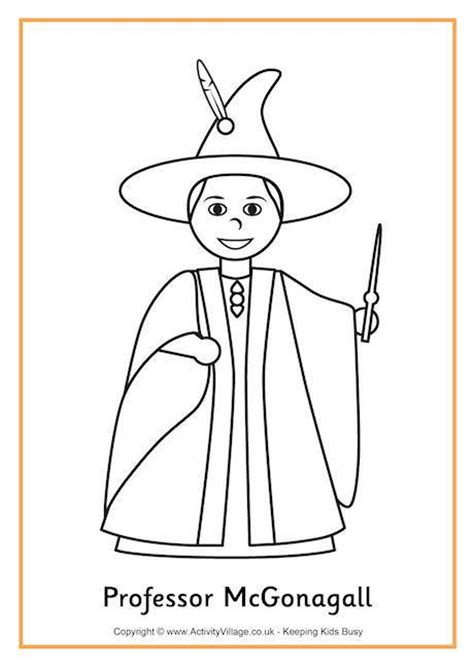 harry potter coloring pages dumbledore professor mcgonagall colouring page 2 harry potter