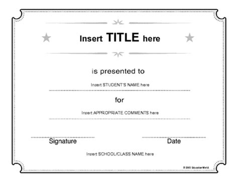 free educational certificate templates free printable student of the week blank award certificate