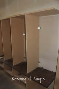 keeping it simple diy garage mudroom lockers with lots of