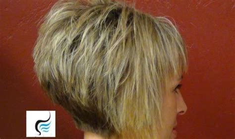 wedge haircut with stacked back short stacked haircuts back views hair pinterest