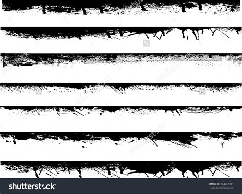 grunge design elements vector free border edge clip art 44