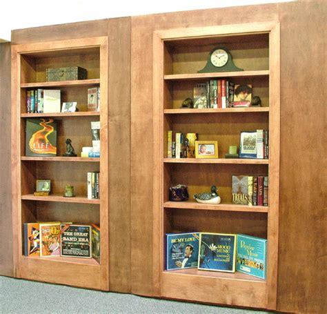 swinging bookcase woodwork swinging bookcase door pdf plans