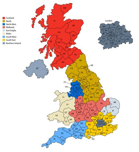zip code map uk postcode map of the uk for business email lists