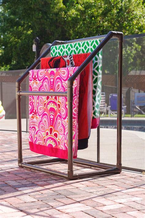 25 best ideas about towel rack pool on pvc