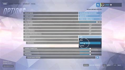 how to your in my how to cap fps in overwatch