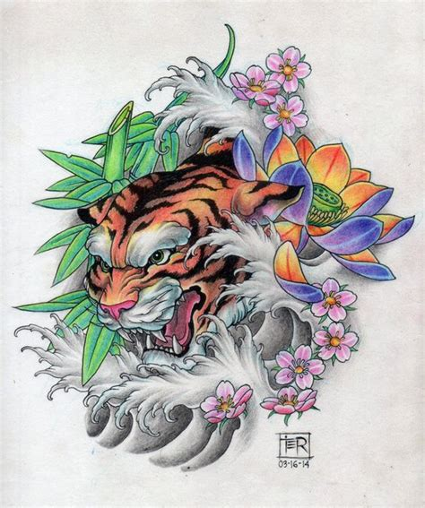 tattoo oriental art tiger tattoo design tattoo design i did pinterest