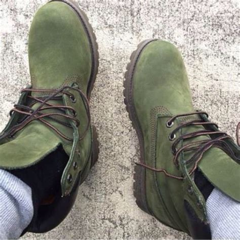 Shoes: army green, olive green, timberland boots, suede