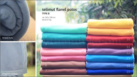 selimut flanel polos jual grosir selimut flanel polos