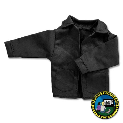 8 inch figure clothes black winter jacket for 8 inch figures