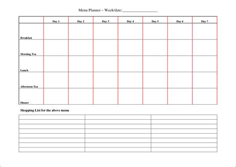 7 day weekly planner template 7 day planner bookletemplate org