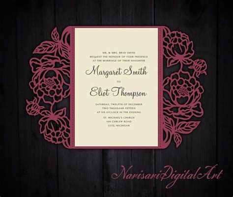 Free Wedding Gate Fold Card Template Silhouette by 110 Best Images About Laser Cut Wedding Invitations On
