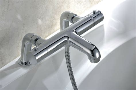 modern thermostatic bath shower mixer tap deck pillar
