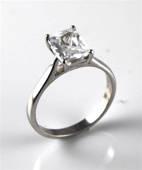 unique 1ct emerald cut engagement ring 9ct gold ebay