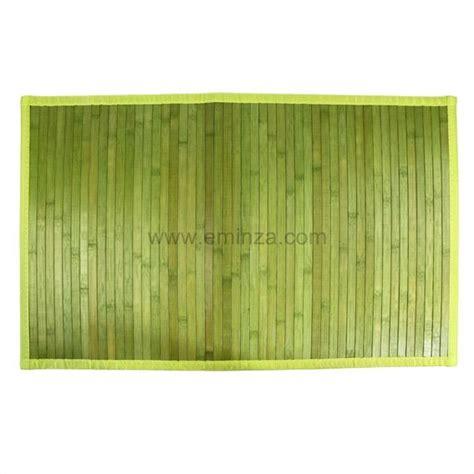 tappeto bagno verde tappeto bagno cotone con listelli bamb 249 verde tappeto