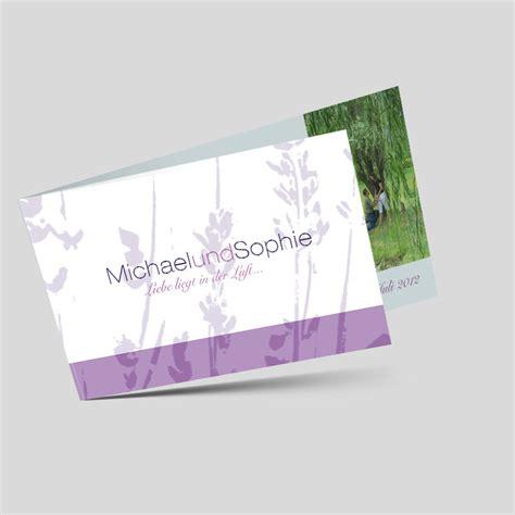 Hochzeitskarten Mit Foto by Foto Hochzeitskarte Lavendelgl 252 Ck