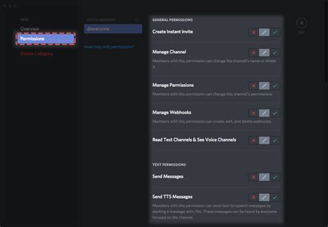 discord how to make afk channel how do i set up permissions discord