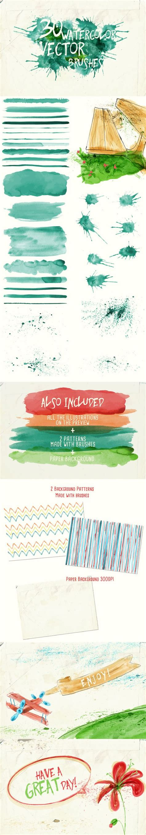 watercolor pattern illustrator download watercolor vector art brushes adobe design and brushes
