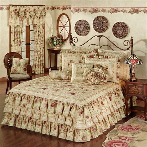 vintage rose bedroom vintage rose floral ruffled grande bedspread
