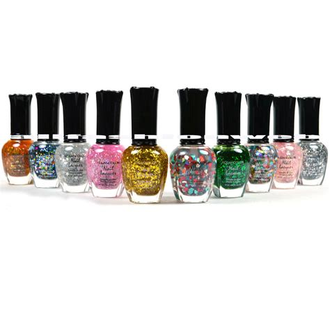 klean color kleancolor nail glitter set lot of 10 lacquer ebay