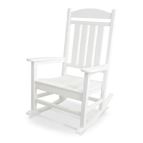 polywood presidential white plastic patio rocking chair in stock white rockers recycled plastic polywood