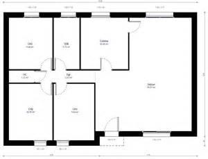 plan plain pied 3 chambres maison moderne