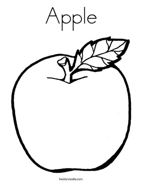coloring book page apple apple coloring page twisty noodle