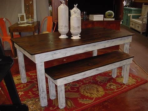farmhouse table with bench custom square farmhouse farm table w matching benches