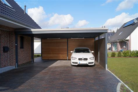 Carport Geschlossen by Moderne Designcarports Carporthaus