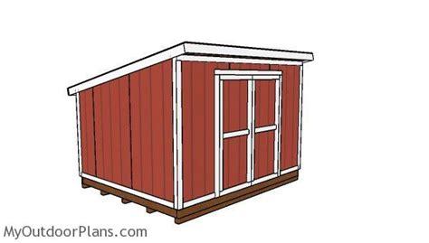 lean  shed plans myoutdoorplans