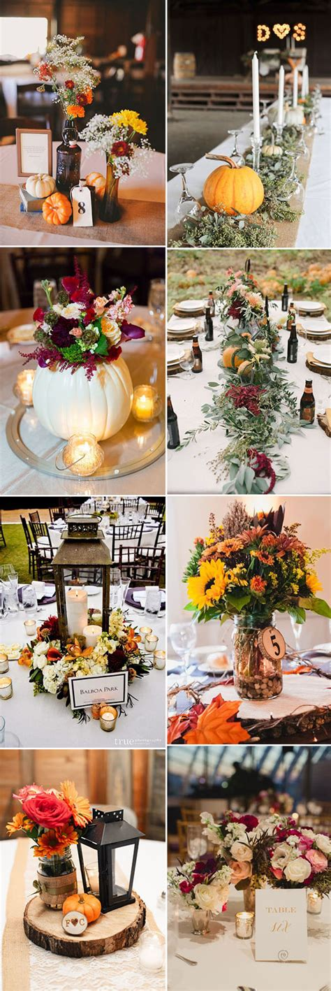 fall wedding centerpieces ideas 50 genius fall wedding ideas you ll to try