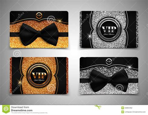 Vip Gift Card - gold and silver vip cards gift voucher certificate vector illustration stock