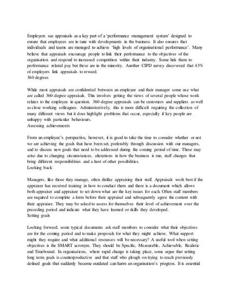Appraisal Grievance Letter cipd performance appraisal