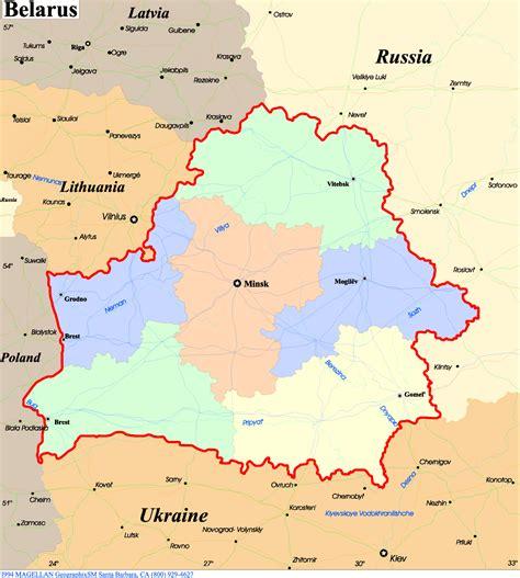 political map of belarus belarus political map mapsof net