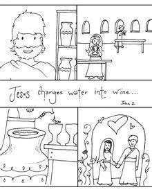 Wedding At Cana Lesson Plan by Water Into Wine Story Sequencing Activity Of
