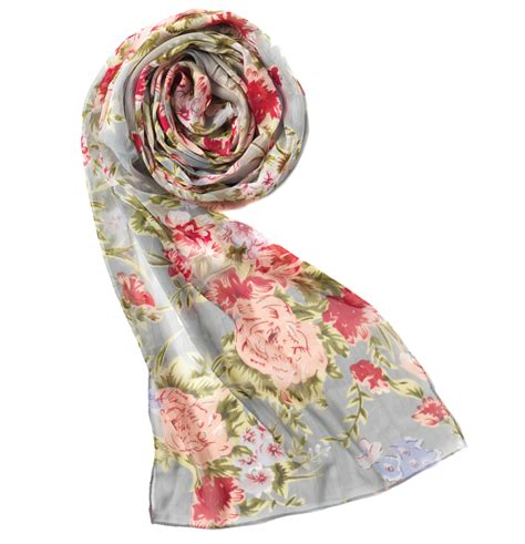 traidcraft flowers floral scarf omia