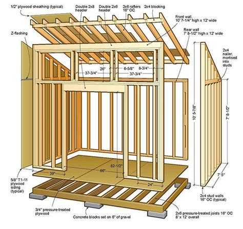 Building A Lean To Shed Plans by 8 215 12 Lean To Shed Plans Blueprints For Lovely Garden Shed