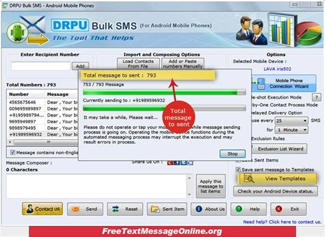 free sms message to mobile phone screenshots of text message software for android mobile
