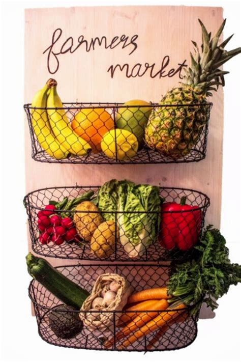 diy hanging fruit basket ideas and pictures unique and