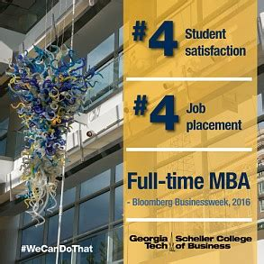Uga Time Mba by Scheller College Scores Top Four Ranking In Placement