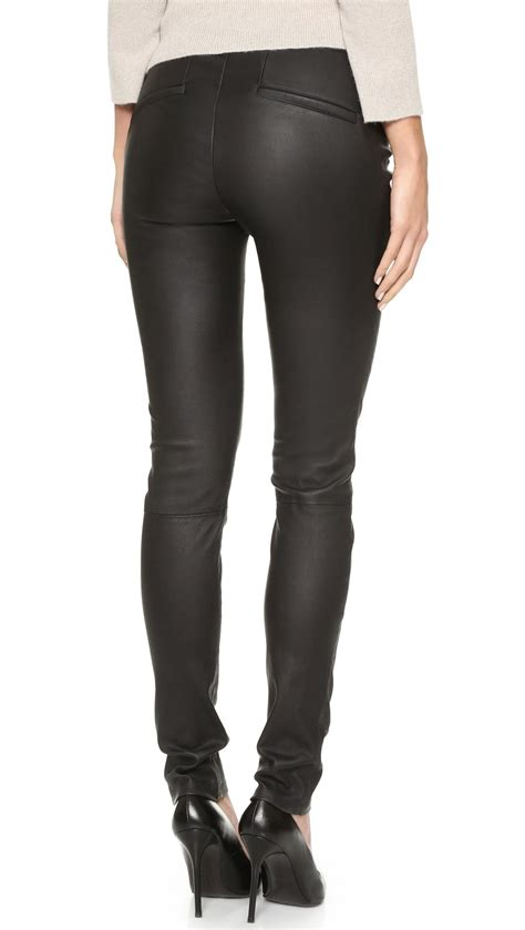 leather pants helmut lang stretch leather pants in black lyst