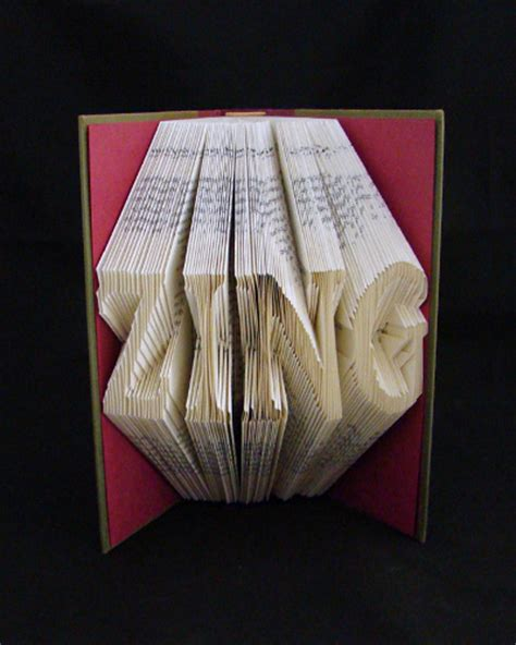 Origami Book Folding - book sculptures make origami