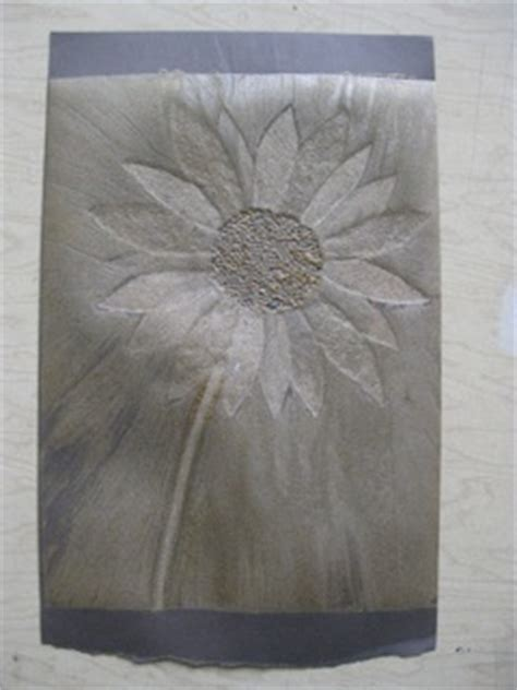 How to Make a Collagraph Print A-test Paper