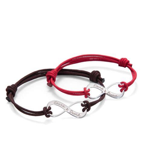infinity bracelets personalised infinity bracelet duo by merci maman