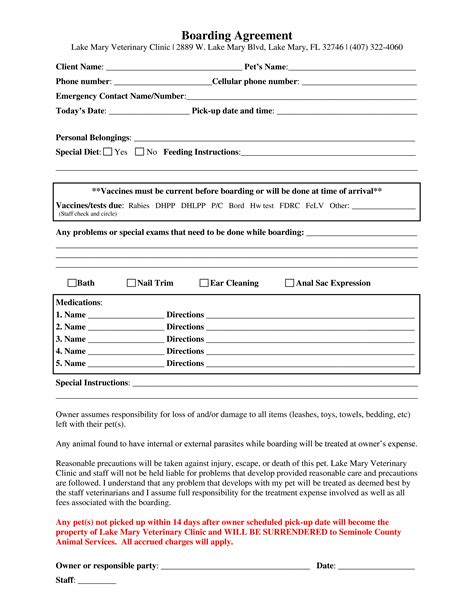 Lake Mary Veterinary Clinic Veterinarian In Lake Mary Fl Usa Clinic Forms Veterinary Surgery Consent Form Template