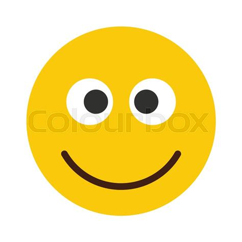 Flat Smile flat smile emodji isolated on white background vector