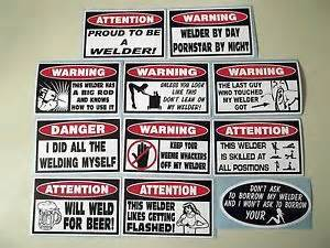 funny  pc welder sticker collection tool box welding
