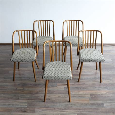 vintage dining chairs vintage dining chairs from ton 1960s set of 5 for sale