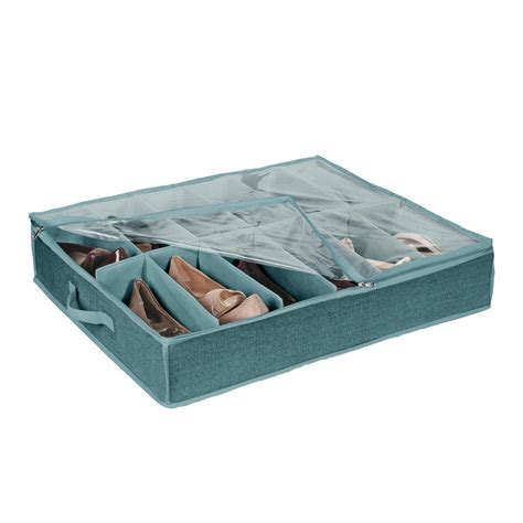 bed storage shoes simplify 12 pair the bed shoe box 25430 dustyblue