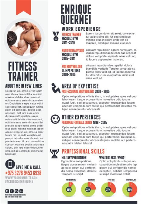 fitness trainer resume resume inspiration curriculum vitae template resume resume examples