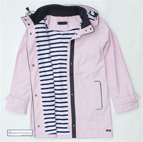 Home Decor Accessories Uk women s waterproof jacket pink hooded striped lined